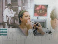 电子硬管喉镜检查